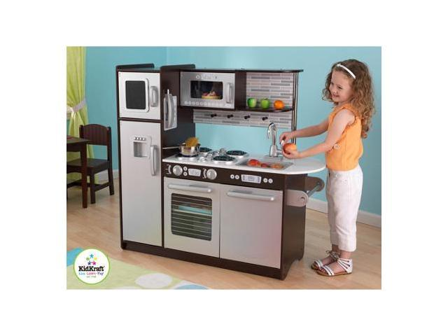 Superieur KidKraft Uptown Espresso KITCHEN Refrigerator Toddler Kids Pretend Play Set  Wood