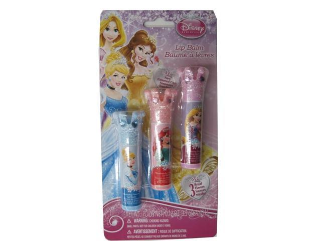 Disney Girls Princesses Lip Balm Set Cosmetic Accessory