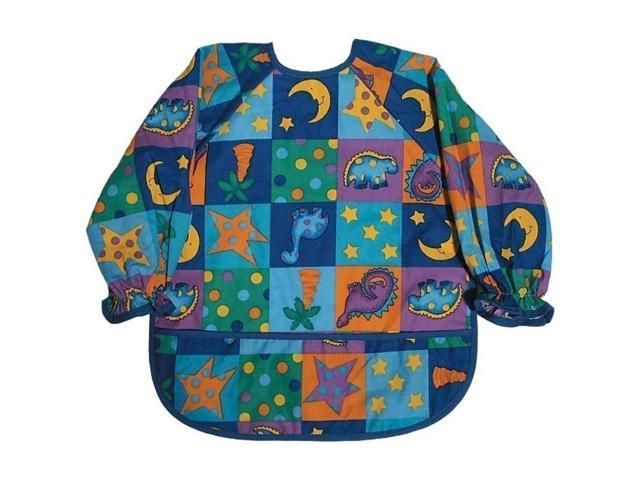 Raindrops Baby Boys Long Sleeve Print Bib-Royal Dinosaur Boy Print