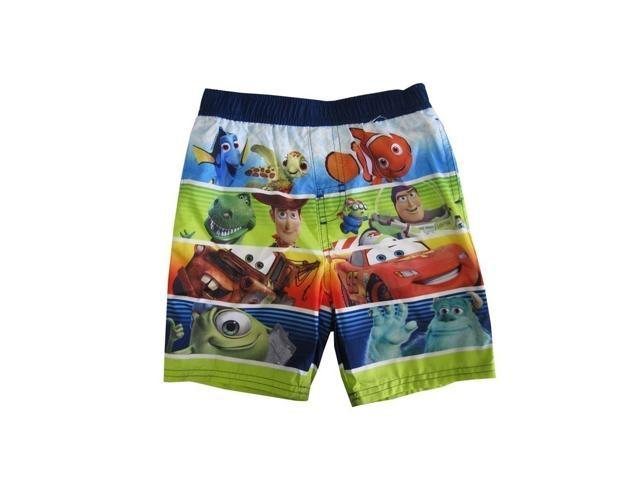 Disney Little Boys Multi Color Cartoon Character Themed Swimwear Shorts 2T