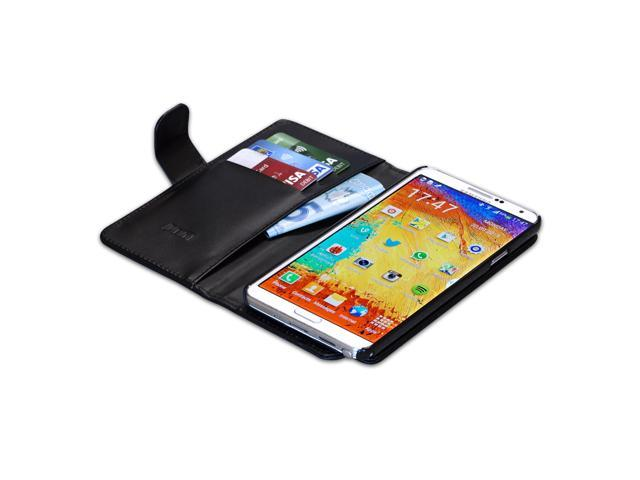 Samsung Galaxy Note 3 Flip Black Lambskin Case