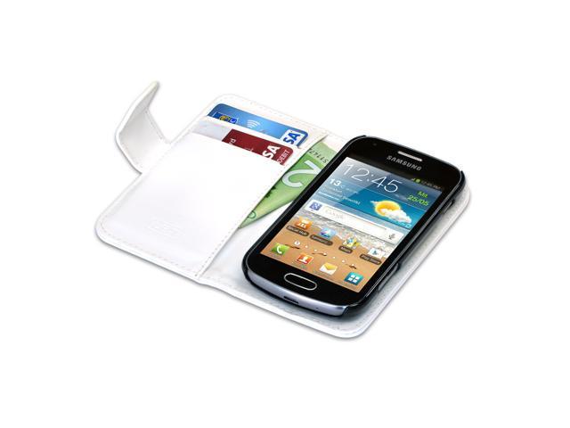 iPhone 5/5S Flip White Lambskin Case