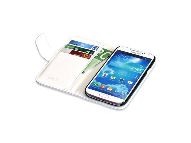 Samsung Galaxy S4 Flip White Lambskin Case