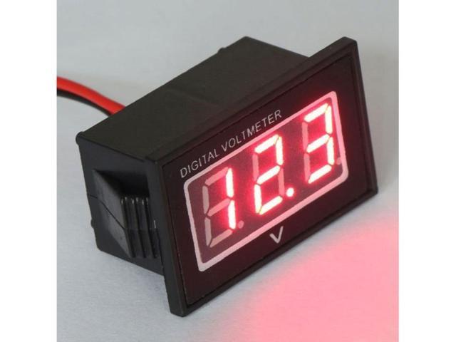"""0.40"""" Waterproof Digital Voltmeter DC 2.5-30V Red LED Auto Mini 12V 24V Volt Tester Car Motor Panel Meter"""