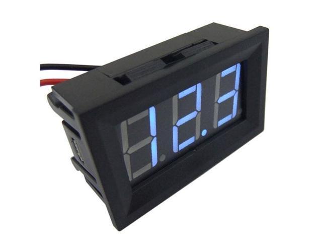 Digitall Voltmeter Panel Meter DC 3V to 30V 12V 24V Red LED Voltage Meter Auto Gauge 2 Wires Battery Monitor