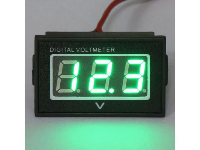 DC 2.7-30V Waterproof Car 12V 24V Battery Condition Monitor Gauge Auto/Motorcycle Voltage Panel Meter Green LED