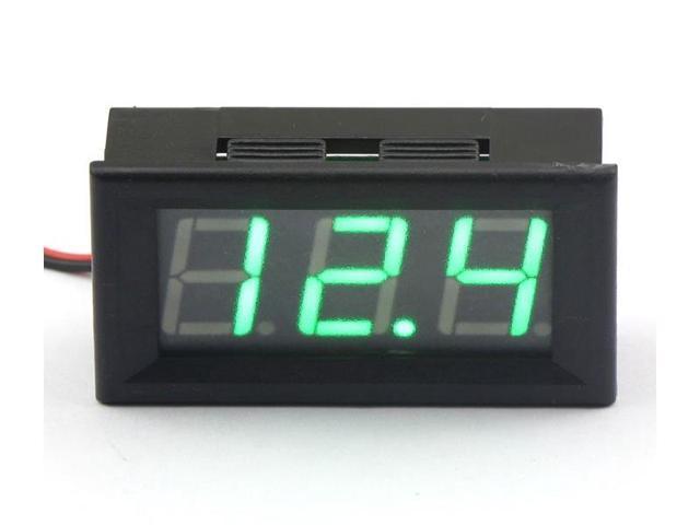 """0.56"""" DC 3.50-30.0V 12V Auto Gauge Voltmeter Digital Car Battery Voltage Tester Green LED"""
