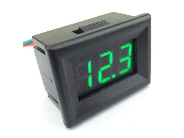 "0.36"" DC 0-30.0V DC Three wire Voltage Panel Meter Green LED Digital Voltmeter DC Volts Measure Meter"