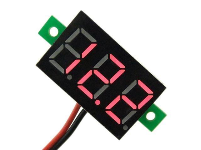 """0.36"""" 3.0~30V 12V 24V DC Digital Display Car Voltmeter Red LED Panel Volt Meter 2-wires"""