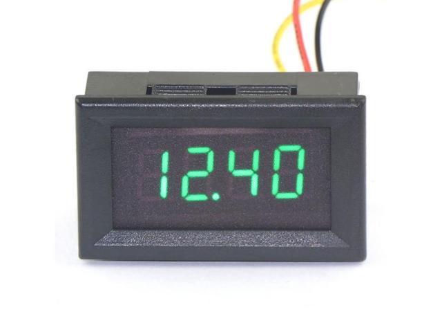 DC 0-33.00V 12v Digital Voltmeter Volt Meter Voltage Tester Green LED Display