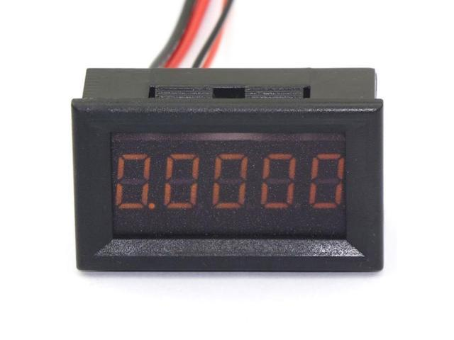 DC 0-3.0000A Digital Ammeter Yellow LED Built-in Shunt 5 Digit Current Measure Panel Amp Meter