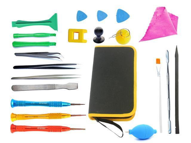 phone complete repair tool kit 23pcs best magnetic screwdriver spudger pry tweezer set for all. Black Bedroom Furniture Sets. Home Design Ideas