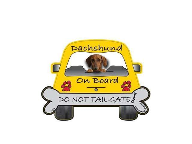Dachshund Red Dog On Board -  Do Not Tailgate Car Magnet