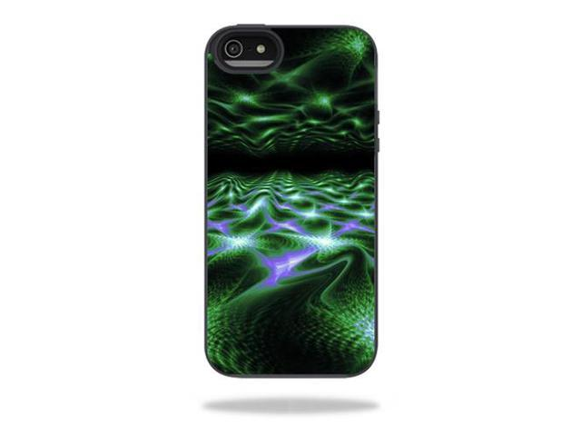 Mightyskins Protective Vinyl Skin Decal Cover for Belkin Grip Candy Sheer iPhone 5-5S Case wrap sticker skins Green Waves