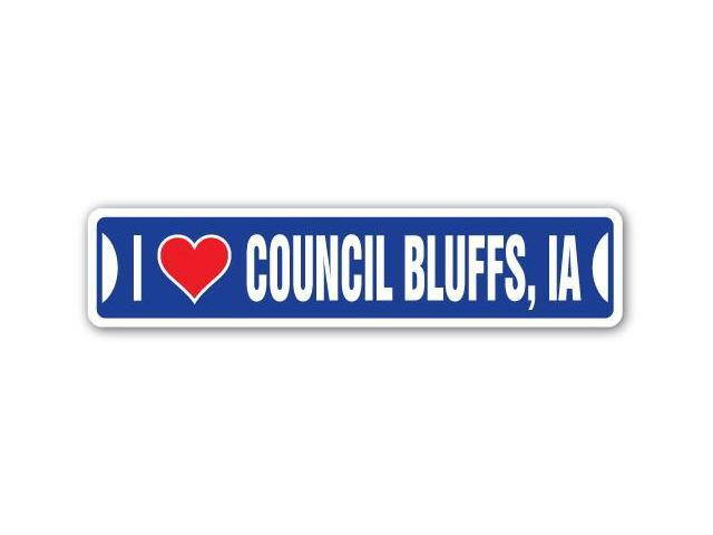 Council Bluffs (IA) United States  city photos gallery : LOVE COUNCIL BLUFFS, IOWA Street Sign ia city state us wall road ...