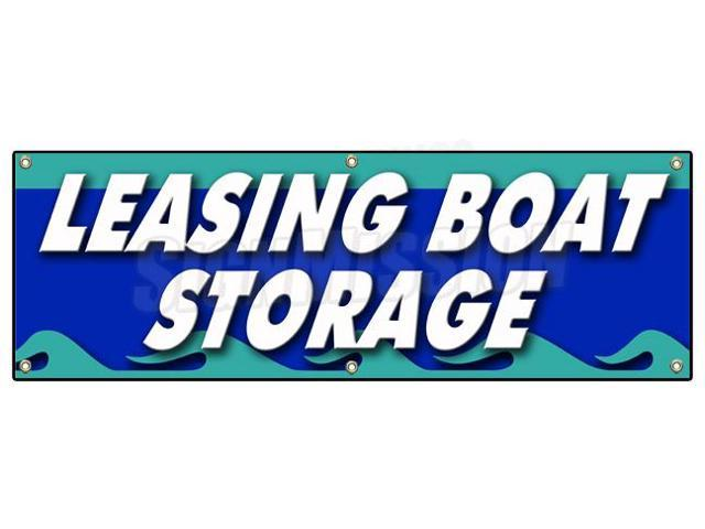 Boat Storage Signage : Quot leasing boat storage banner sign boatyard marina