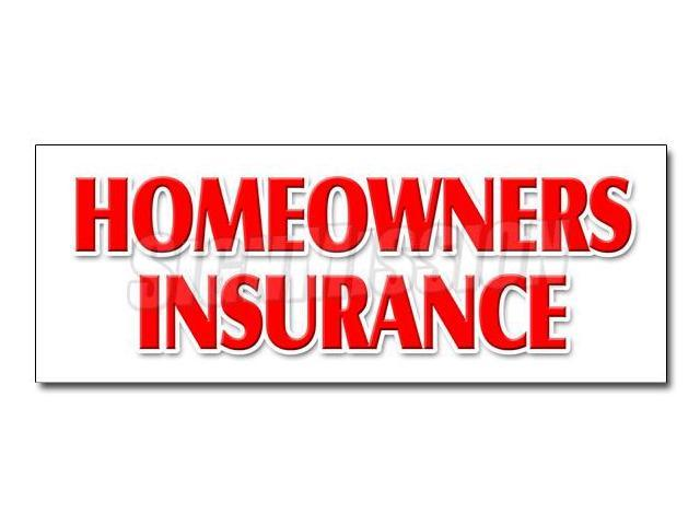 48 Homeowners Insurance Decal Sticker Home Owners House