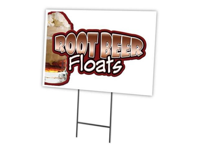 "ROOT BEER FLOAT 12""x16"" Yard Sign & Stake outdoor plastic ..."