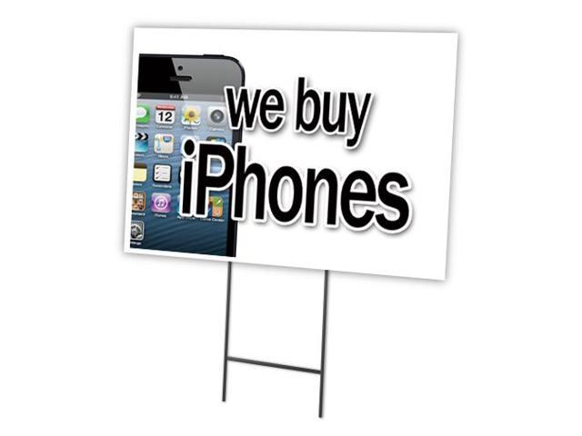 we buy iphones we buy iphones 12 quot x16 quot yard sign amp stake outdoor plastic 13286
