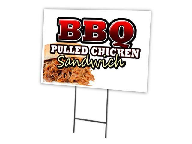 """BARBECUE CHICKEN 12""""x16"""" Yard Sign & Stake outdoor plastic ...   Bbq Chicken Sign"""