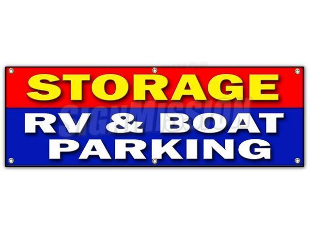 Boat Storage Signage : Quot storage rv boat parking banner sign short long term