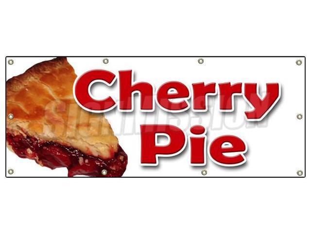 "36""x96"" CHERRY PIE BANNER SIGN bakery cherries crust sweets pastry ..."