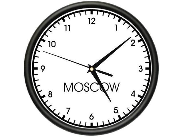 moscow time wall clock world time zone clock office