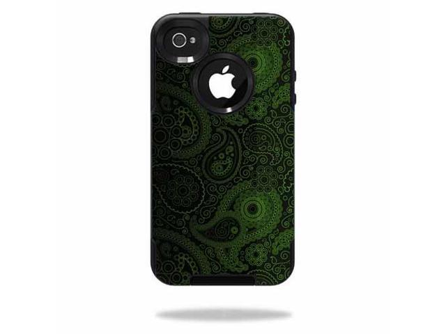 Mightyskins Protective Vinyl Skin Decal Cover for OtterBox Commuter iPhone 4 Case Cell Phone wrap sticker skins Paisley