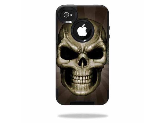 Mightyskins Protective Vinyl Skin Decal Cover for OtterBox Commuter iPhone 4 Case wrap sticker skins Skeletor