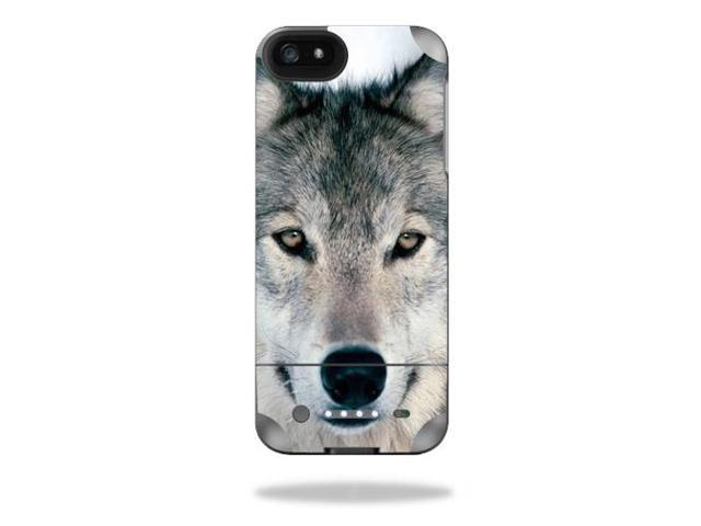 Mightyskins Protective Vinyl Skin Decal Cover for Mophie Juice Pack Helium iPhone SE/5s/5 External Battery Case wrap sticker skins Wolf
