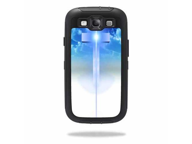 Mightyskins Protective Vinyl Skin Decal Cover for OtterBox Defender Samsung Galaxy S III S3 Case wrap sticker skins Cross