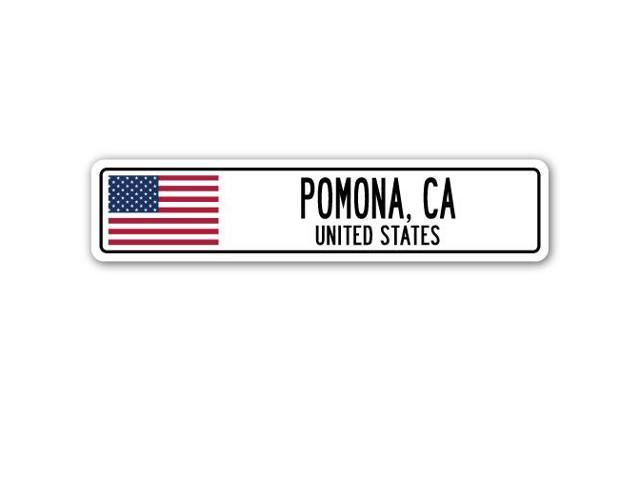 Pomona (CA) United States  city photo : POMONA, CA, UNITED STATES Street Sign American flag city country gift ...