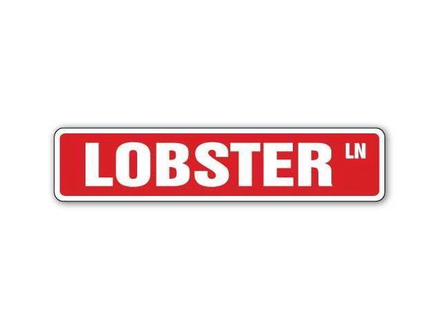 Lobster street sign seafood restaurant signs décor newegg