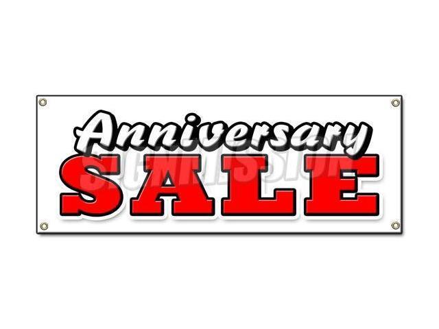 Anniversary sale banner sign celebration huge store wide