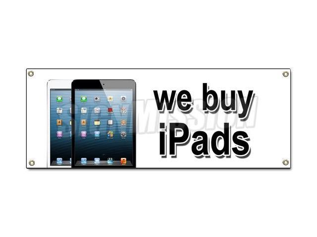 we buy iphones we buy ipads banner sign trade apple repairs iphones 13286
