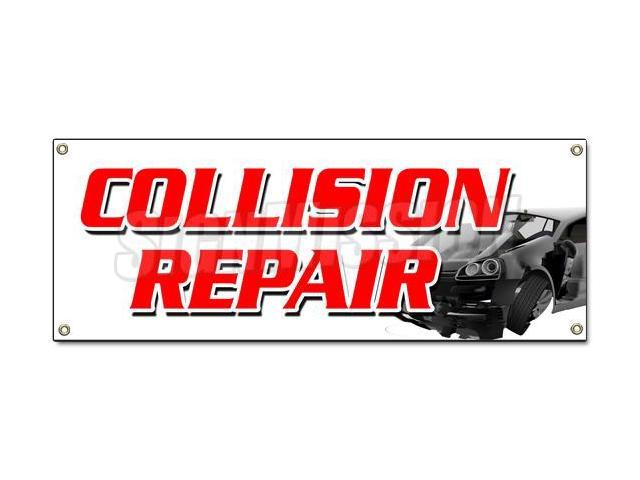 Automotive Repair Signs : Collision repair banner sign body shop painting auto car