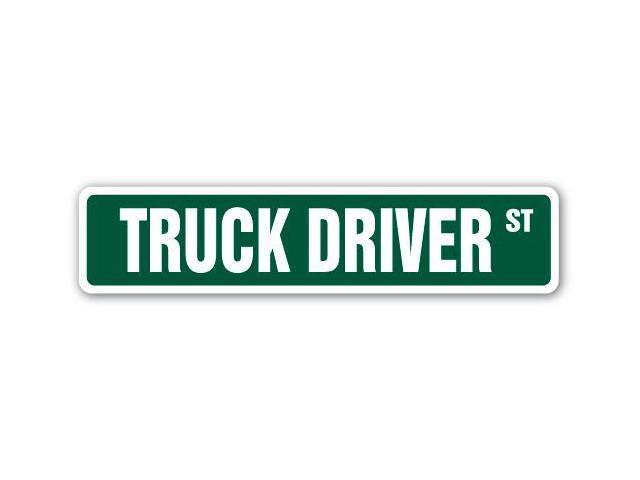 Truck Driver Street Sign Dump Garbage Delivery Furniture