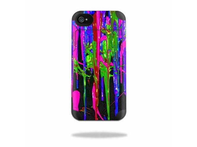 Mightyskins Protective Vinyl Skin Decal Cover for Mophie Juice Pack Air Apple iPhone 4/4S Battery Case wrap sticker skins Drips