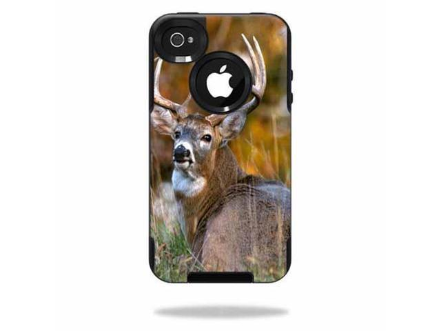 Mightyskins Protective Vinyl Skin Decal Cover for OtterBox Commuter iPhone 4 Case Cell Phone wrap sticker skins Deer