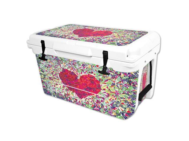 Skin Decal Wrap for RTIC 45 qt Cooler cover sticker Stained Heart
