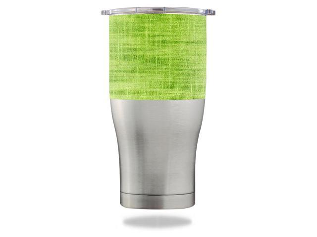 Skin Decal Wrap for Orca Chaser 27 oz Tumbler Green Fabric
