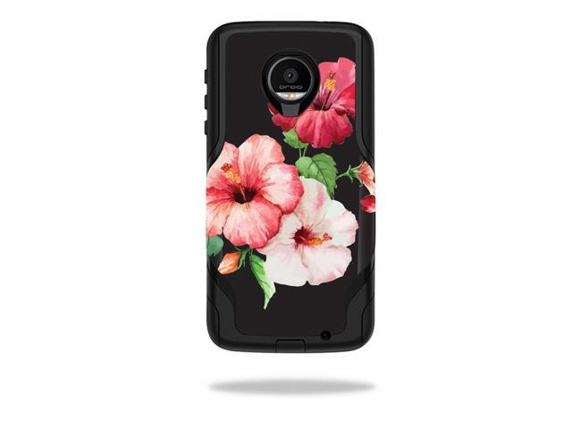 Skin Decal Wrap for OtterBox Commuter Moto Z Force Droid Hibiscus