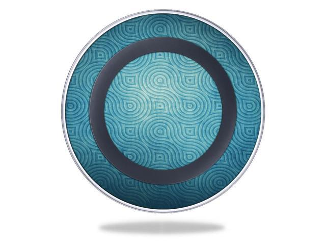 Skin Decal Wrap for Samsung Wireless Charging Pad Blue Swirls