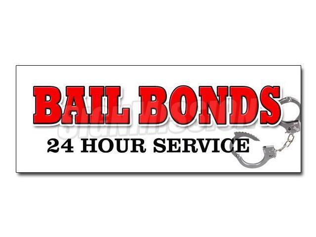 48 bail bonds decal sticker bondsman 24 service