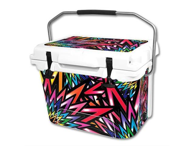 Skin Decal Wrap for RTIC 20 qt Cooler cover sticker Color Bomb
