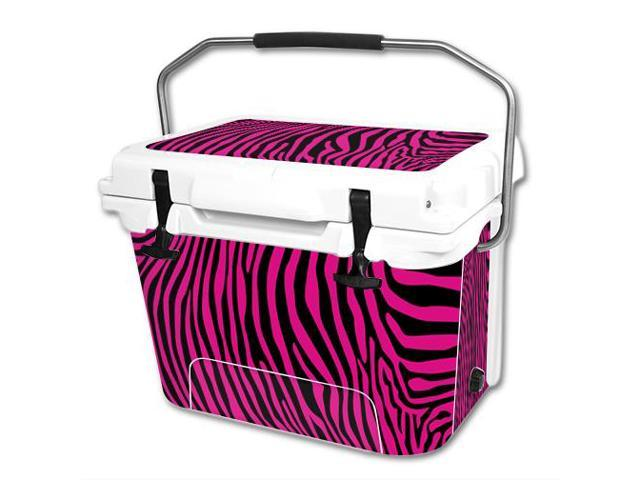 Skin Decal Wrap for RTIC 20 qt Cooler cover sticker Pink Zebra