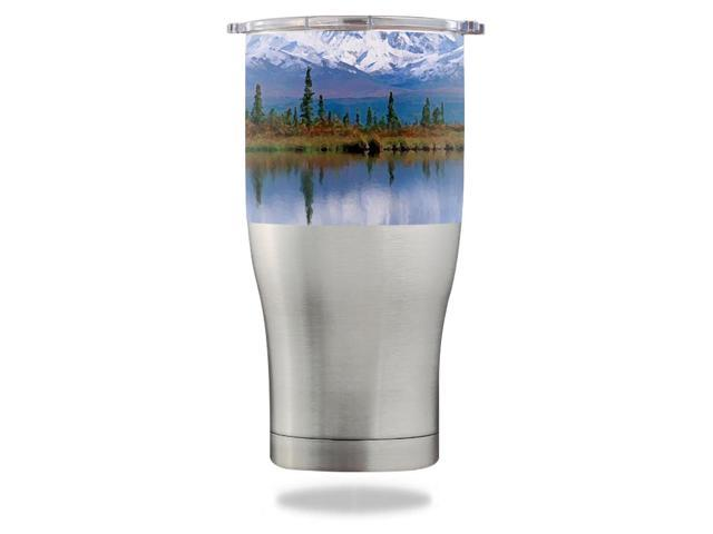 Skin Decal Wrap for Orca Chaser 27 oz Tumbler Mountains