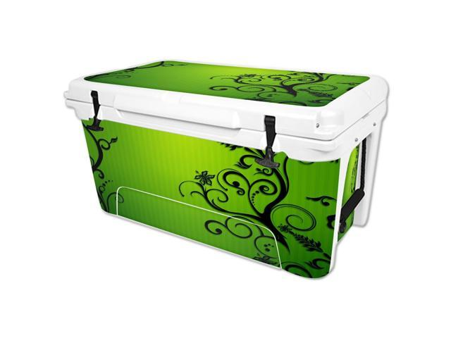 Skin Decal Wrap for RTIC 65 qt Cooler cover sticker Floral Flourish