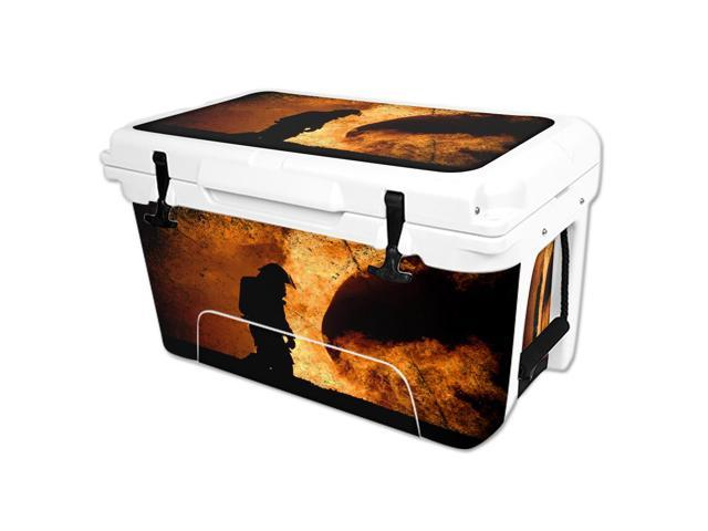 Skin Decal Wrap for RTIC 45 qt Cooler cover sticker Firefighter