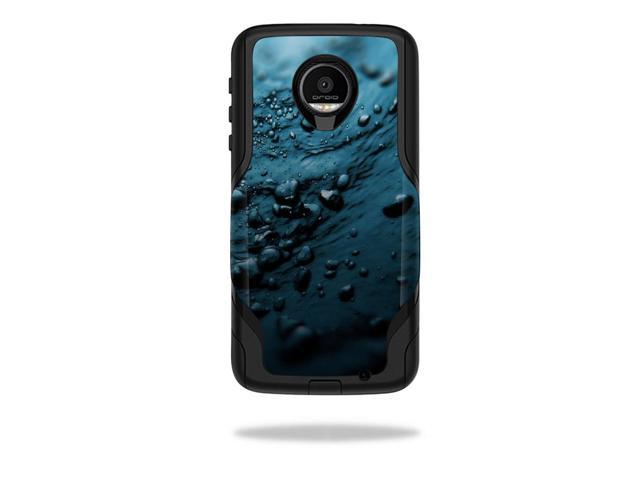 Skin Decal Wrap for OtterBox Commuter Moto Z Force Droid Blue Storm